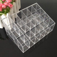 24 Transparent Acrylic Makeup Organizer Lipstick Storage Pen Box Cosmetic Display Stand Make Up Organizador Cosmetic Organizer