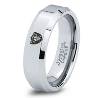 Oakland Raiders Ring Mens Fanatic NFL Sports Football Boys Girls Womens NFL Jewelry Fathers Day Gift Tungsten Carbide 048