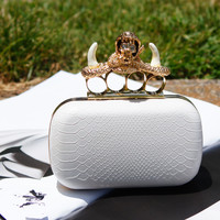 Skull Unicorn Box Evening Clutch
