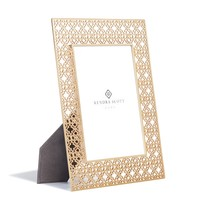 Filigree Photo Frame 5x7 in Bright Brass | Kendra Scott