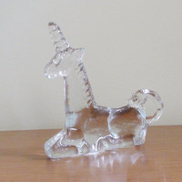 Vintage Kosta Boda Glass Unicorn