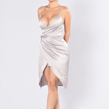 Show Off Dress - Grey