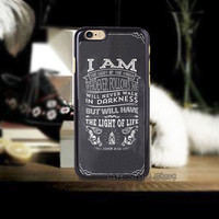 Christian Bible Verse 1PC Hard Back Phone Case for iphone4 4s 5 5s 5c and 6 6 Plus