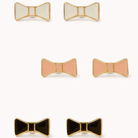 Retro Bow Stud Set