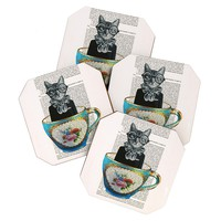 Coco de Paris Cat In A Cup Coaster Set