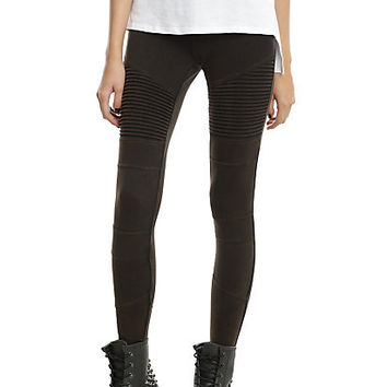 Blackheart Black Moto Leggings