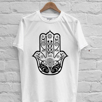 Hamsa fish Hand of Fatima spiritual T-shirt Men, Women Youth and Toddler
