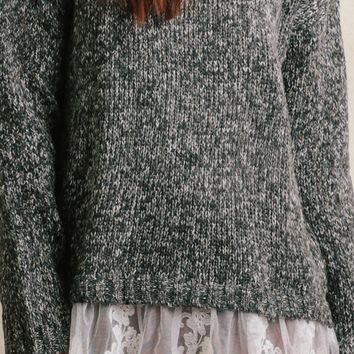 Whitewoods Lace Accent Sweater | Ruche