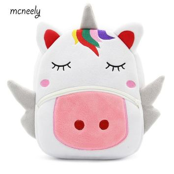 School Backpack Hot Kindergarten Kid Unicorn Backpacks Baby Girls Boy Cute Schoolbag Plush Backpack Children Cartoon Pres Toys Gifts School Bag AT_48_3