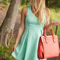 Front Of The Pack Mint Back Detail Dress