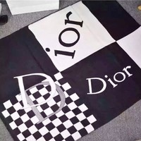 DIOR New fashion letter plaid print couple warm scarf Black