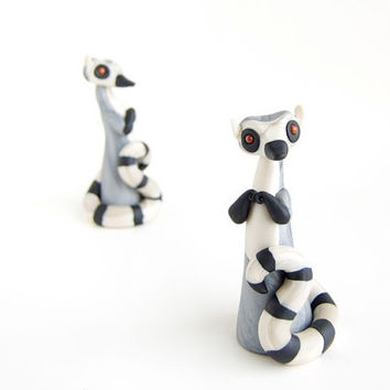 Lemur Figurine - Ring-tailed Lemur by Bonjour Poupette