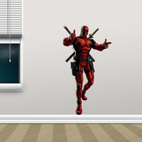 Deadpool Decal - Hero Printed and Die-Cut Vinyl Apply in any Flat Surface- Marvel Deadpool Decor