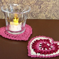 Textured Heart Coaster or Decoration from Heritage Heartcraft