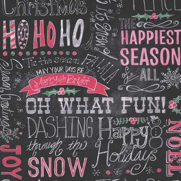 Christmas Chalkboard HoHoHo Happy Holiday Platinum Cloth Backdrop - 8x10 - LCPC8150 - LAST CALL
