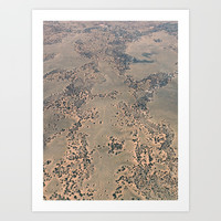 Mojave Desert bird's eye view Art Print by kathrinmay