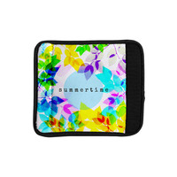 "Sreetama Ray ""Seasons Summer"" Rainbow Leaves Luggage Handle Wrap"