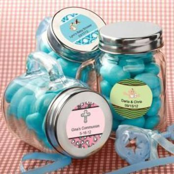 Favor Size Glass Mini Mason Jars - Sets of 12