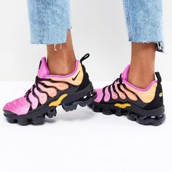 Nike Air Vapor max Plus Wave Type Leisure Transparent air cushion sole Sneskers B-CSXY Pink&Black