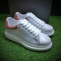 Best Online Sale LV x Supreme x McQueen Women Fashion White / Pink Sneaker Casual Shoes