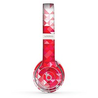 The Geometric Faded Red Heart Skin Set for the Beats by Dre Solo 2 Wireless Headphones