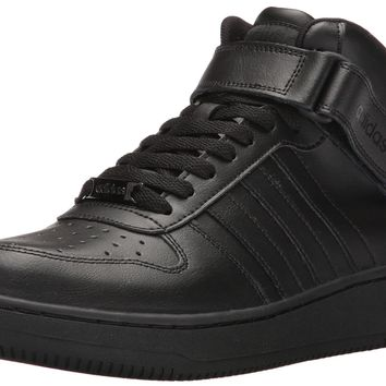 adidas NEO Men's Team Court Mid Basketball Shoe Black/Black/Black 9.5 D(M) US '