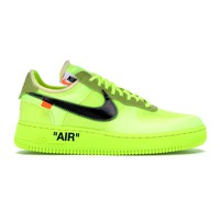 "Nike Air Force 1 ""Volt"" by OFF-WHITE"