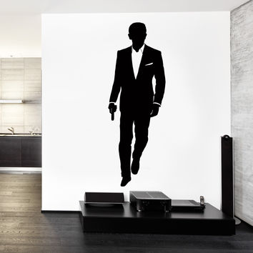 Vinyl Decal Wall Decal James Bond MI-6 British Intelligence Service Sticker (z3256)
