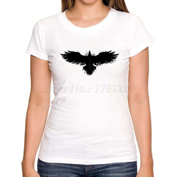 2017 Flight to Fauhalla Black eagle Flying printed women t shirt short sleeve casual lady hipster funny cool tops/tee