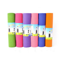 """6mm Thickness Non-Slip Yoga Mat Exercise Fitness Lose Weight 68""""x24""""x0.24"""" Random Color"""