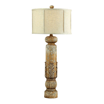 Twin Falls Bannister Table Lamp W/Leaf Detailing-Js