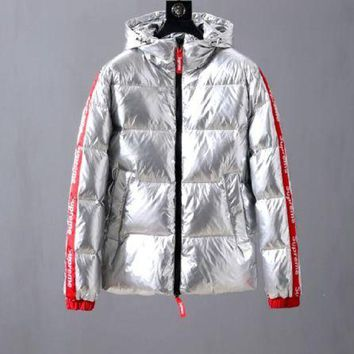 Moncler Down jacket fashionable jacket / silver DCCK