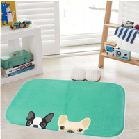 Coral Fleece Dog Rug Anti-Slip Chihuahua Plush Door Pad Floor Mat Carpet Rugs Outdoor Indoor Essentials Home Shop Design Decor