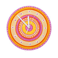 MANDALA WALL CLOCK, Unique wall clock, gift for girl