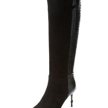 Suede & Python Tall Boot