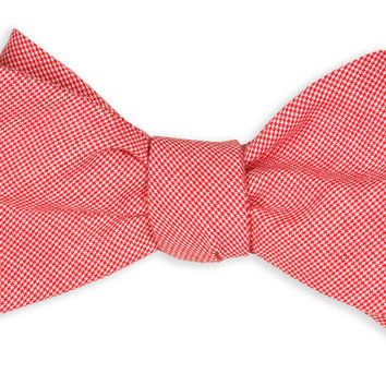 Red Micro Gingham Check Bow Tie by High Cotton