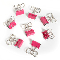 Office Depot SJW Bow Clips, Pink - See Jane Work