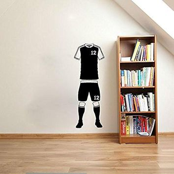 Soccer Sports Uniform Jersey Shorts Socks with Custom Number Vinyl Wall Words Decal St