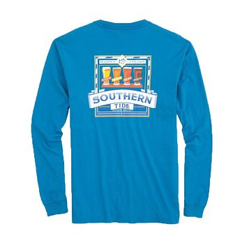 Southern Brewery Long Sleeve T-Shirt in Deep Water by Southern Tide