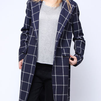 'The Minnie' Plaid Trench Coat