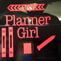 Car Decal for the Planner Girl Show the world you love your planner You are organized A planner nerd A collector