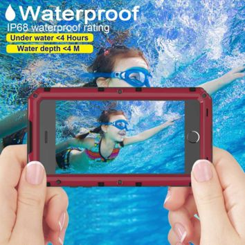 iPhone 6 Waterproof Case, Seacosmo Full Body Protective Shell with Built-in Scre