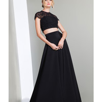 Preorder - Mignon LM37001 Black Beaded Two Piece Dress Fall 2015