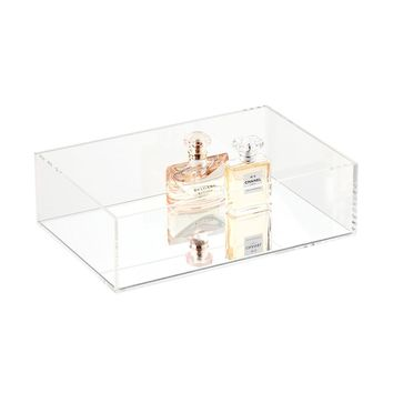 Luxe Acrylic Tray with Mirror Base