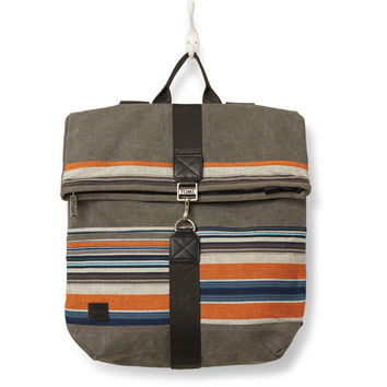 TOMS Multi Stripe Canvas Tech Sidetrack Backpack