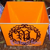 Halloween Candy Bucket. Family Monogram