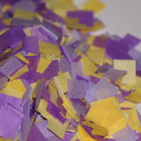 Tissue Paper Confetti, purple and yellow confetti, baby shower, bridal shower, wedding, birthday party, table decorations, push pop filler