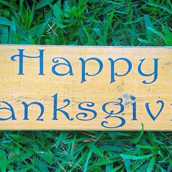 18x6 Happy Thanksgiving Wood Sign