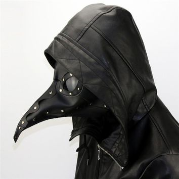 New Dr. Beulenpest Steampunk Plague Doctor Mask Beak Masks Steampunk Black PU Birds Halloween Art Cosplay Carnaval Costume