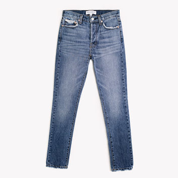Skinny Rich Vintage Whiskers High Rise Jeans